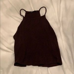 Maroon cropped tank top